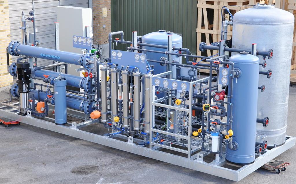 Система водоподготовки для изготовления аккумуляторов