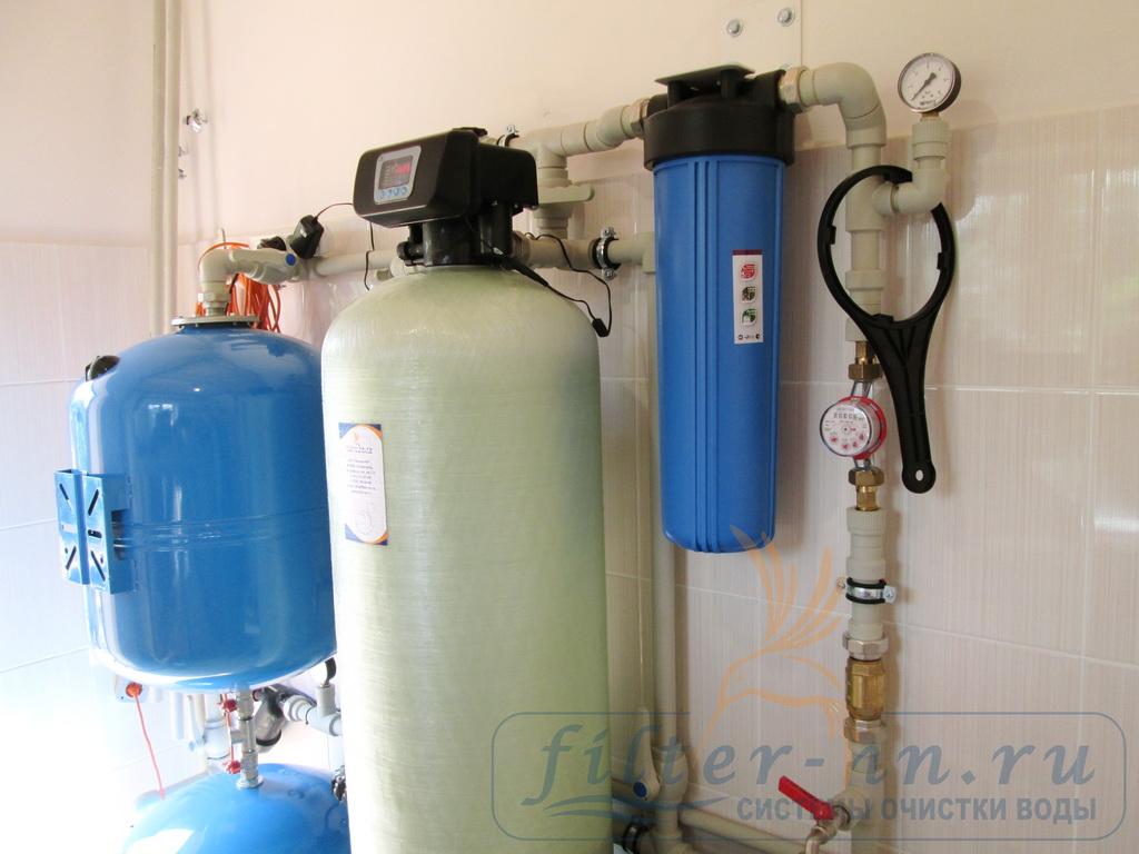 Система водоподготовки в работе