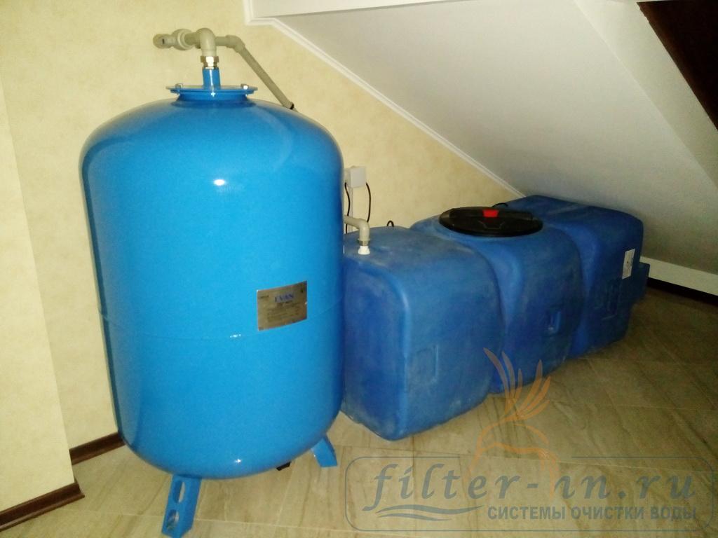 Ресивер исходной воды и емкость чистой воды